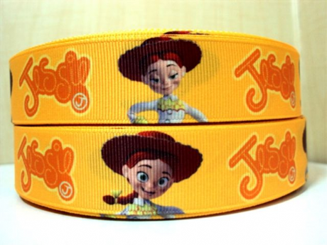 1 METRE JESSIE RIBBON TOY STORY SIZE INCH HEADBANDS HAIR CLIPS BOWS CARD MAKING